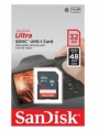 Карта памяти SDHC 32 Gb SanDisk Class 10 Ultra UHS-I 48 Mb/s (SDSDUNB-032G-GN3IN)